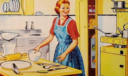 Die Hausfrau erwartet den Ehemann